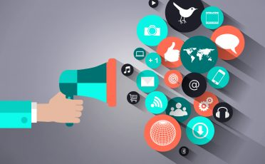 Social media marketing concept  - Promotion, branding, marketing, communication and strategy